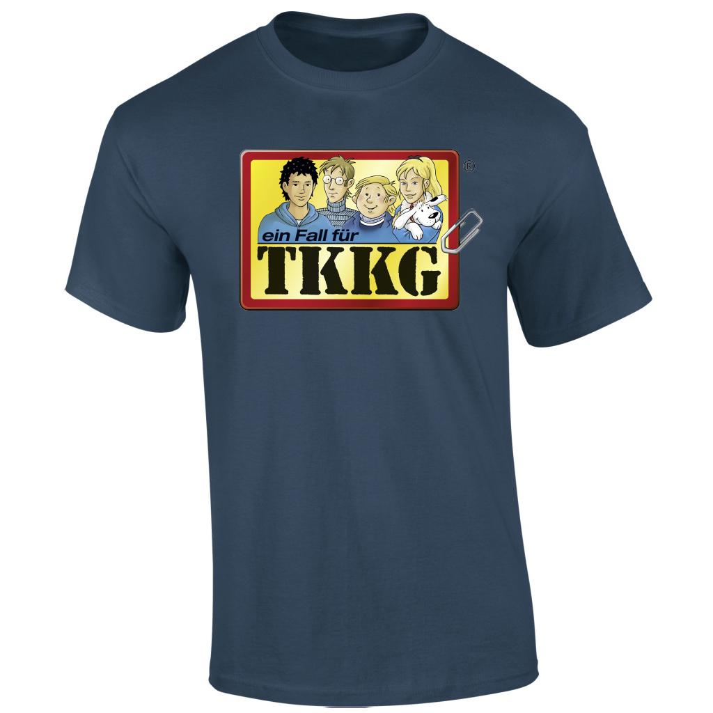 TKKG TKKG Klassiker-Shirt unisex T-Shirt, indigo meliert