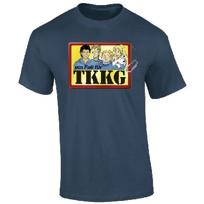 TKKG TKKG Klassiker-Shirt unisex T-Shirt indigo meliert