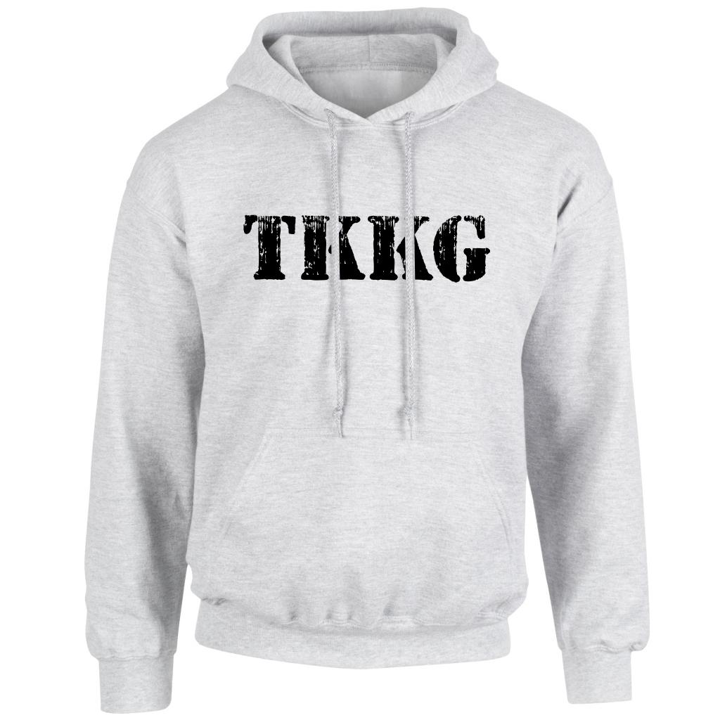 TKKG TKKG Logo-Hoodie Version schwarz unisex Kapuzenpullover grau meliert