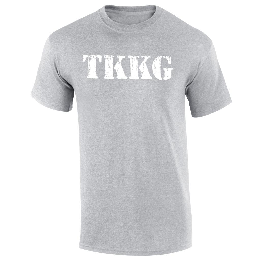 TKKG TKKG Logo-Shirt Version weiß unisex T-Shirt, grau meliert